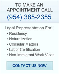 Contact South Florida Immigration Law Attorney now.